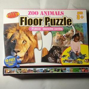 Giant Zoo Animals Floor Puzzle
